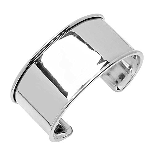 (Elegant Elements, Cuff Bracelet Base with Channel for Delica Seed Beads 30x66mm, 1 Bracelet, Silver Plated)