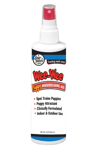 Wee Puppy Training (Four Paws Wee-Wee Puppy Dog Housebreaking Aid, 8 oz Spray)
