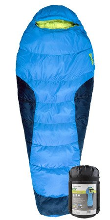 Alpine Design - Red Cloud Sleeping Bag; Mummy Bag; Camping Gear; Oversized; Great for Hiking, Camping, Backpacking, and Travel; Comfortable and Warm; Blue; Stuff Sack Included