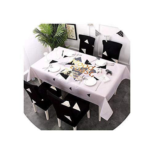 Table Cloth Dining Room Table Cover Banquet Folding Hotel Home Kitchen Decoration,Color 8,140x210cm