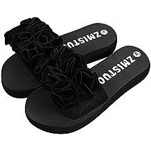 Haoricu Hot Sales Flat Shoes Women, Flower Summer Women Sandals Slipper Indoor Outdoor Flip-flops Beach Platform Shoes