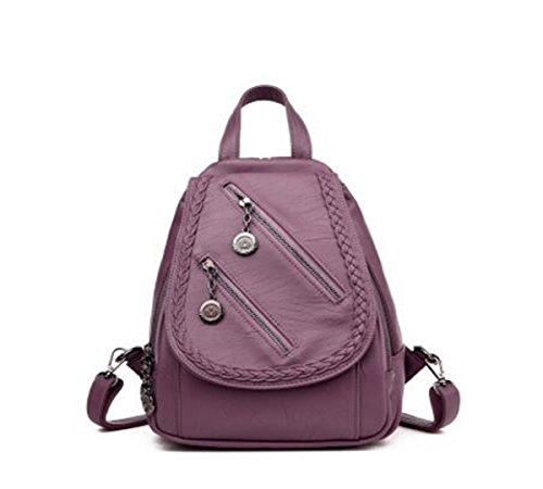backpack 4 9 LXopr 2 backpack PU inch 4 3 12 Purple handbag Ms fwfXtYq