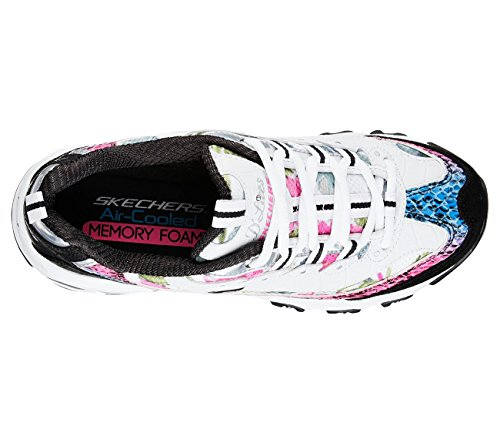 Skechers Sport Dlites Runway Ready Mujeres Oxford Blanco, Negro, Multi