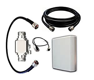 Verizon Jetpack MiFi 4620L Antenna Kit, 10dBi Panel, 20ft cable, Lightning protector