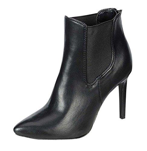 Ankle Boots Bsbaylee-11 Nero Con Cerniera Posteriore Breckelles