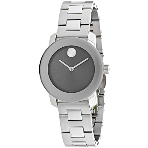 Women's Swiss Quartz Stainless Steel Casual Watch, Color Silver-Toned (Model: ) - Movado 3600436