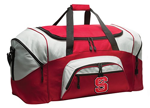 Large DELUXE NC State Wolfpack Duffel Bag NC State Gym Bag by Broad Bay