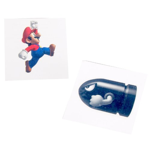Super Mario Bros. Tattoos Assorted (8 count), Health Care Stuffs