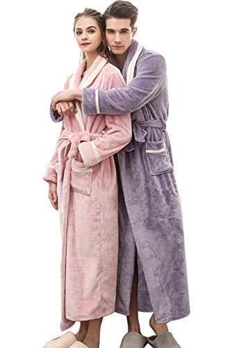 c Hombre de Ropa Homewear Albornoz Traje Hotel Mujer dormir del Esponja Unisex Noche Longitud Adulto Para Vestido Mameluco Albornoz Pareja dormitorio Aibayleef Spa IBxfSP