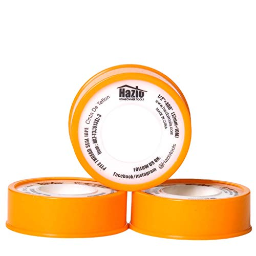 Plumbers Teflon Tape|(1/2x400 / 12mm x 10m)| 3 pcs Pack| Industrial Strength, PTFE Coated Thread, Waterproof Sealant Tape| Re-sealable Case| for Pipes, PVC, Threads Fixing & All House Repairs