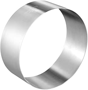 CHEFMADE Mousse Mold, 8-Inch Round Stainless Steel Cake Mold Seamless Mousse Ring