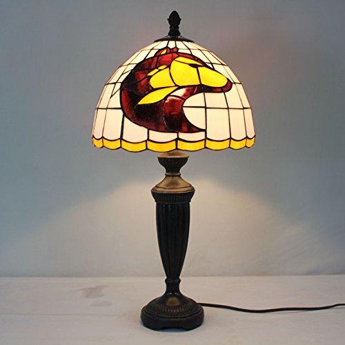 (12-inch NCAA Washington Huskies Stained Glass Table Lamp)
