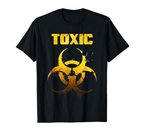 Grunge Style Danger Toxic Biohazard Symbol T-shirt -