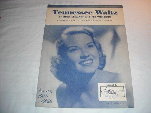 TENNESSEE WALTZ PATTI PAGE 1948 SHEET MUSIC SHEET MUSIC 233