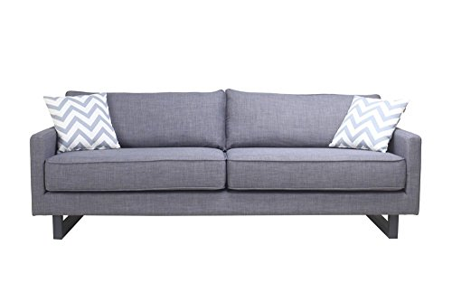 Valerio Sofa Grey Dimensions: 84''W x 34.5''D x 31.5''H Weight: 143 lbs by Moe's Home Collection