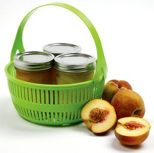 Plastic Canning Rack with apricots