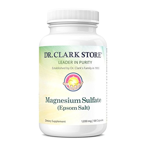 - Magnesium Sulfate USP (Epsom Salts), Constipation Relief, 1030mg, 100 capsules