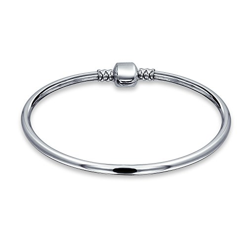 Love Message Filigree Screw Clasp Starter Charm Cuff For European Beads Bangle Bracelet For Women 925 Sterling Silver