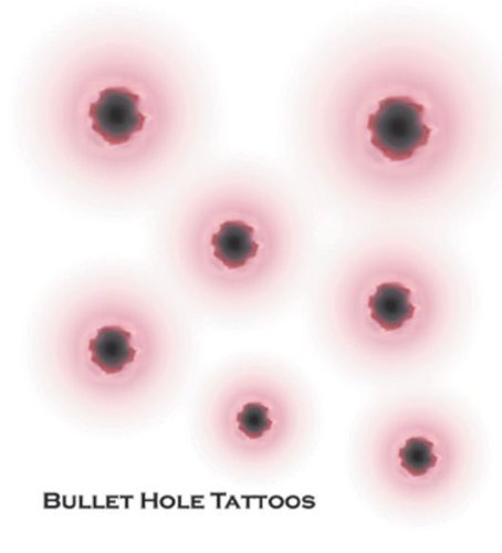 Tinsley Transfers - Bullet Holes Tattoos - One-Size, (Grown Up Halloween Costumes Ideas)