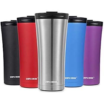 Amazon Com Simple Drink 16oz Vacuum Insulated Coffee