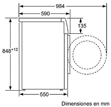 Balay 3TS853B Independiente Carga frontal 5.5kg 955RPM A+ Blanco ...