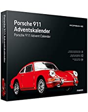 Franzis 55199-3 adventskalender Porsche 911 rood, voertuigbouwpakket in schaal 1:43, incl. geluidsmodule en begeleidingsboek, vanaf 14 jaar, kleurrijk