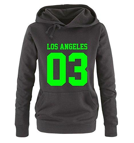 Con Shirts Maniche Black Neon Felpa Lunghe Green Donna Comedy Cappuccio vEgdw6xnf6