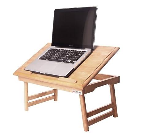 Mesa para ordenador portátil-cómodo Full - incluye nombre engravement + de regalo. Plegable para ordenador portátil ...