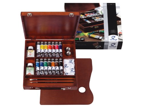 Royal Talens Van Gogh Artists' Oil Colors, Inspiration Wooden Box Set (02840100) by Van Gogh