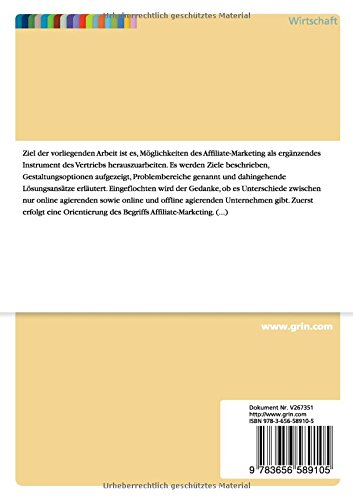 Affiliate-Marketing-als-ergnzendes-Instrument-des-Vertriebs-German-Edition