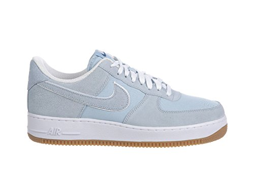 Nike Mens Air Force 1 Low LT Armory Blue/Lt Armory Blue/White/Gum Lt Brown Leather Basketball Shoes 12 M US (Nike Air Force 1 Low Gym Red White)