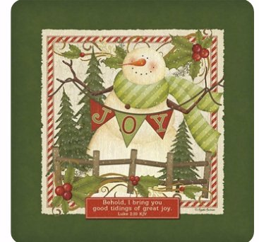 Legacy Publishing Group Seasonal Coasters, Snowman Joy, 12-Count CST47918