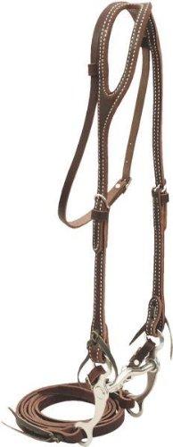 Billy Cook Saddlery One Ear Pony Bridle W/Curb Bit - Burgundy Latigo - Pony