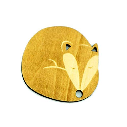 Natural Wooden Coasters Drink Wine Mats Handy Helpers Cute Animal Pattern SQI6 (Model - #3)