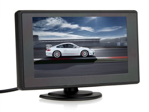 BW 4.3'' Color TFT Car Monitor Support 480 x 272 Resolution + Car Rear-view Mirror System Monitor, Mini Monitor for Car / Automobile