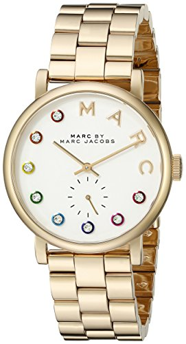 Marc by Marc Jacobs Women's MBM3440 Baker Rhinestone-Accented Gold-Tone Stainless Steel Watch