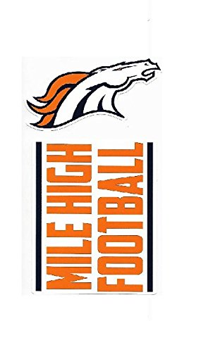NFL Denver Broncos Double Up Die Cut 2-Piece Sticker Sheet