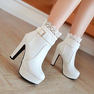 black Wedding cn42 Chunky us9 Stitching Bootie eu41 5 Women's Party 5 Dress HeelBuckle Platform Winter amp; Boots Lace 10 Evening uk7 8 IqgFw61WO