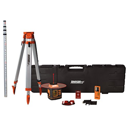 Johnson Level & Tool 99-027K Self-Leveling Rotary Laser System, Hard Case Kit (Best Laser Level For Grading)