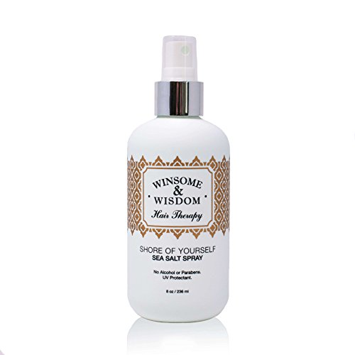 Shore of Yourself Texture Spray For Hair Sea Salt 8 oz Curly Beach Wave Women Men Kids Paraben & Alcohol Free UV Protection Winsome & Wisdom Cruelty Free Professional Salon Hair Care Styling Products