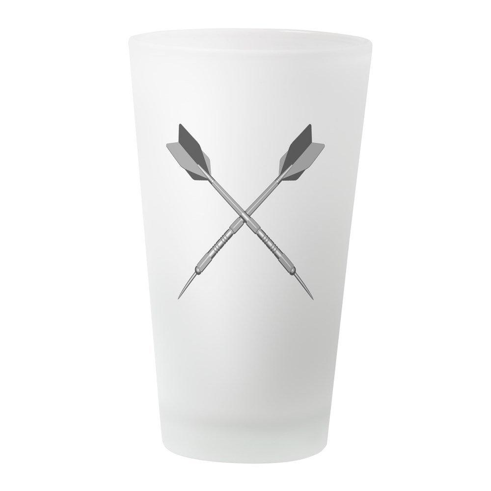 CafePress - Crossed_Darts_Blk - Pint Glass, 16 oz. Drinking Glass
