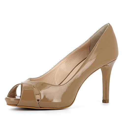 Elisa Col Marrone Shoes Tacco Evita Donna Scarpe 6ZwPxqnAz