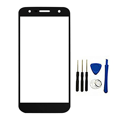 Outer Glass top Lens Front Panel for LG X Power2 / K10 Power / M322 X500 / X Charge/X Power 2 (Not digitizer Touch&Not LCD) Black