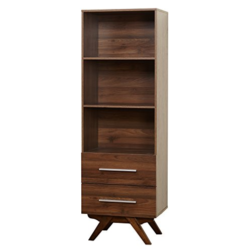 Target Walnut (Target Marketing Systems 38412WAL Rue Collection Modern Bookcase)