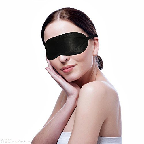 - Sleeping Mask Blindfold Eye Cover 100% Silver Lining For Men Women Lightweight Breathable Well for Nap Meditation Shift Work Black