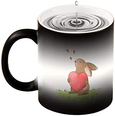 Bunny Color Changing Mug Rabbit Heat Sensitive Coffee Tea Porcelain Cup 11 oz