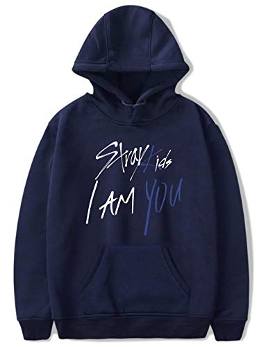 con bambini pullover Kpop Street Sung mixtape Pop Felpa Simyjoy You I logo Top Fashion cool Hip Ji Blue unisex 00 per maglioni Am nataXYZ