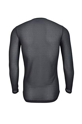 Dinamik Evo Pro Men's Cycling Base Layer Long Sleeve Undershirt (Black, Small) by Dinamik (Image #3)
