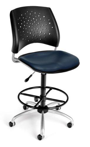 OFM Star Swivel Vinyl Chair with Drafting Kit
