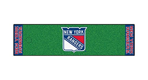 Fanmats Home Indoor sports Team Logo New York Rangers Putting Green Runner Mat 18
